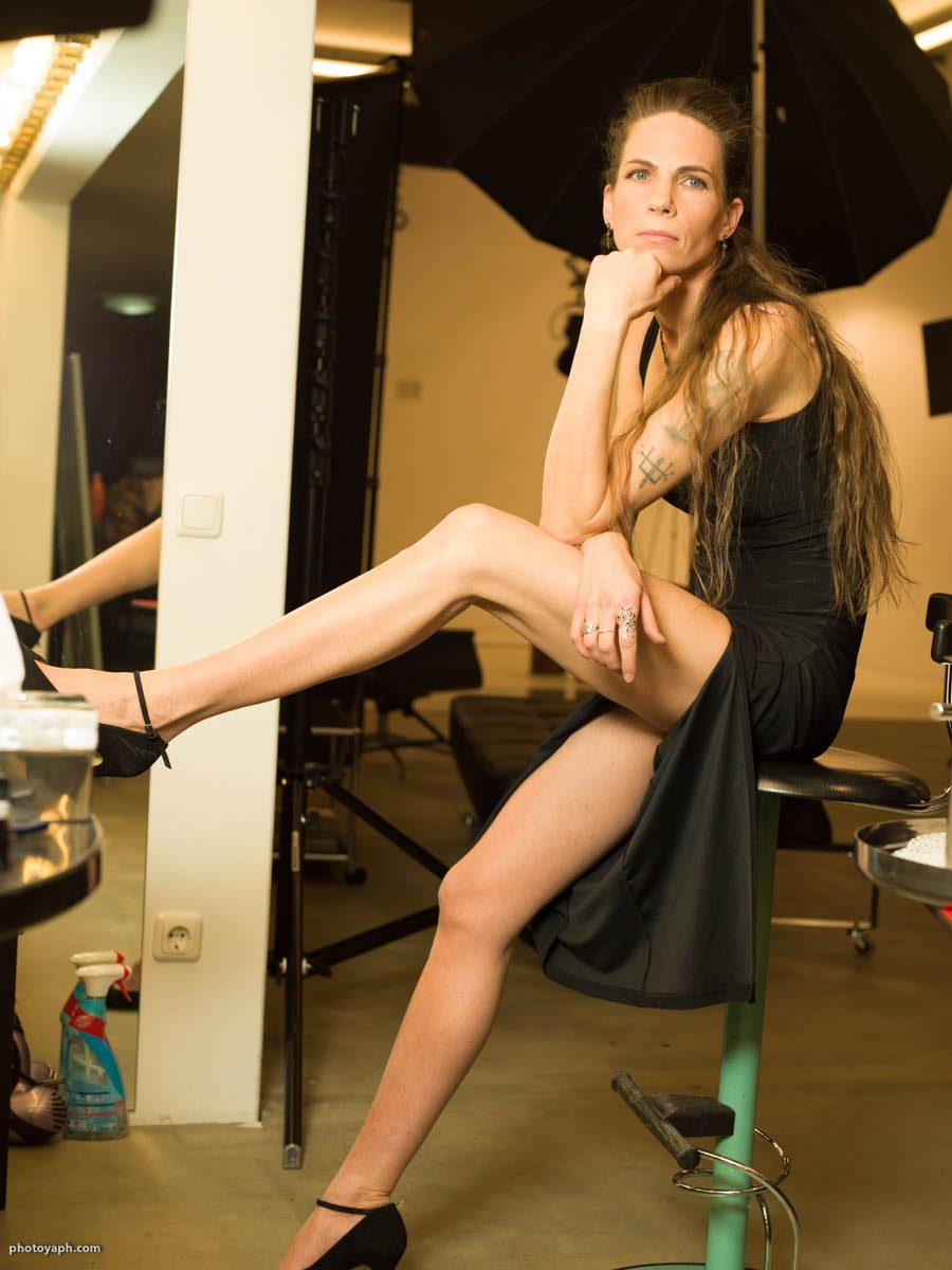 Beim Modelshooting Trier wird geschminkt und gestylt