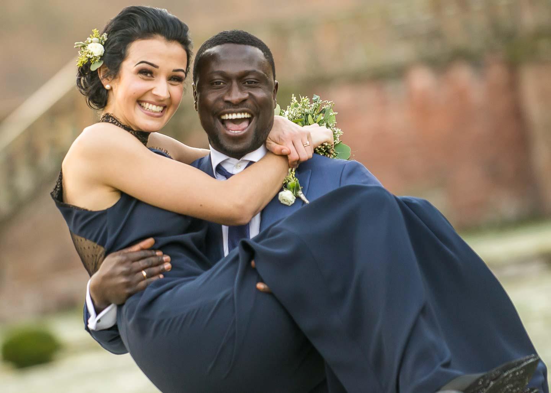 Hochzeitsfotografie Sahr Senesi und Svenia am Schloß Föhren bei Trier