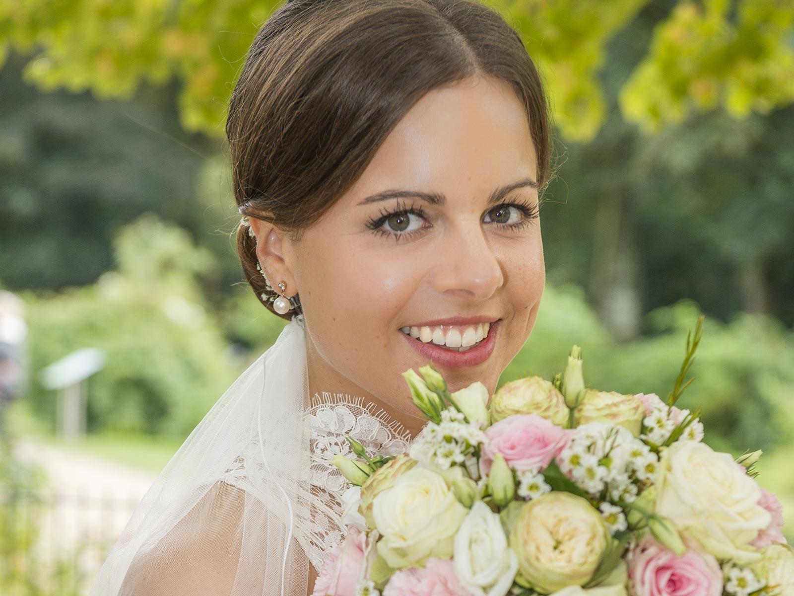 Brautfoto von der schönen Sina entstand parallel zu Ihrem Braupaar Shooting durch Yaph - Fotograf in Trier im Nellspark.