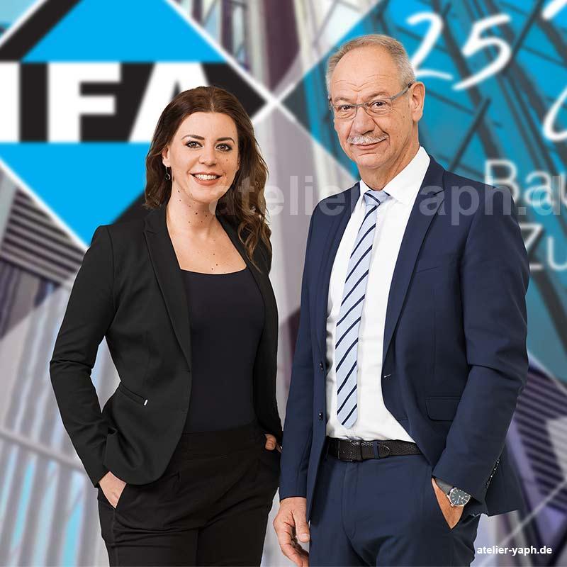 Die beiden Geschäftsführer der Firma IFA aus dem Saarland haben im Fotostudio Yaph in Trier Businessporträts anfertigen lassen