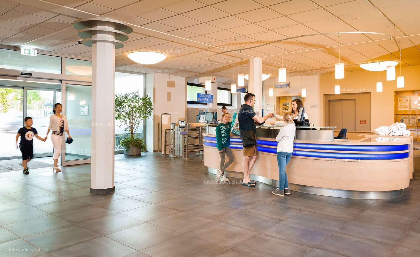 Eingangsbereich vom Bad an den Kaiserthermen in Trier, fotografiert vom Fotostudio Yaph für Pressezwecke und Website