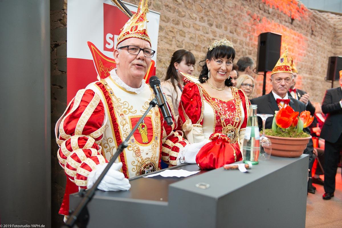 Das Karnevals-Prinzenpaar der Stadt Trier 2019 auf dem Neujahrsempfang der SPD Trier fotografiert vom Fotostudio Yaph