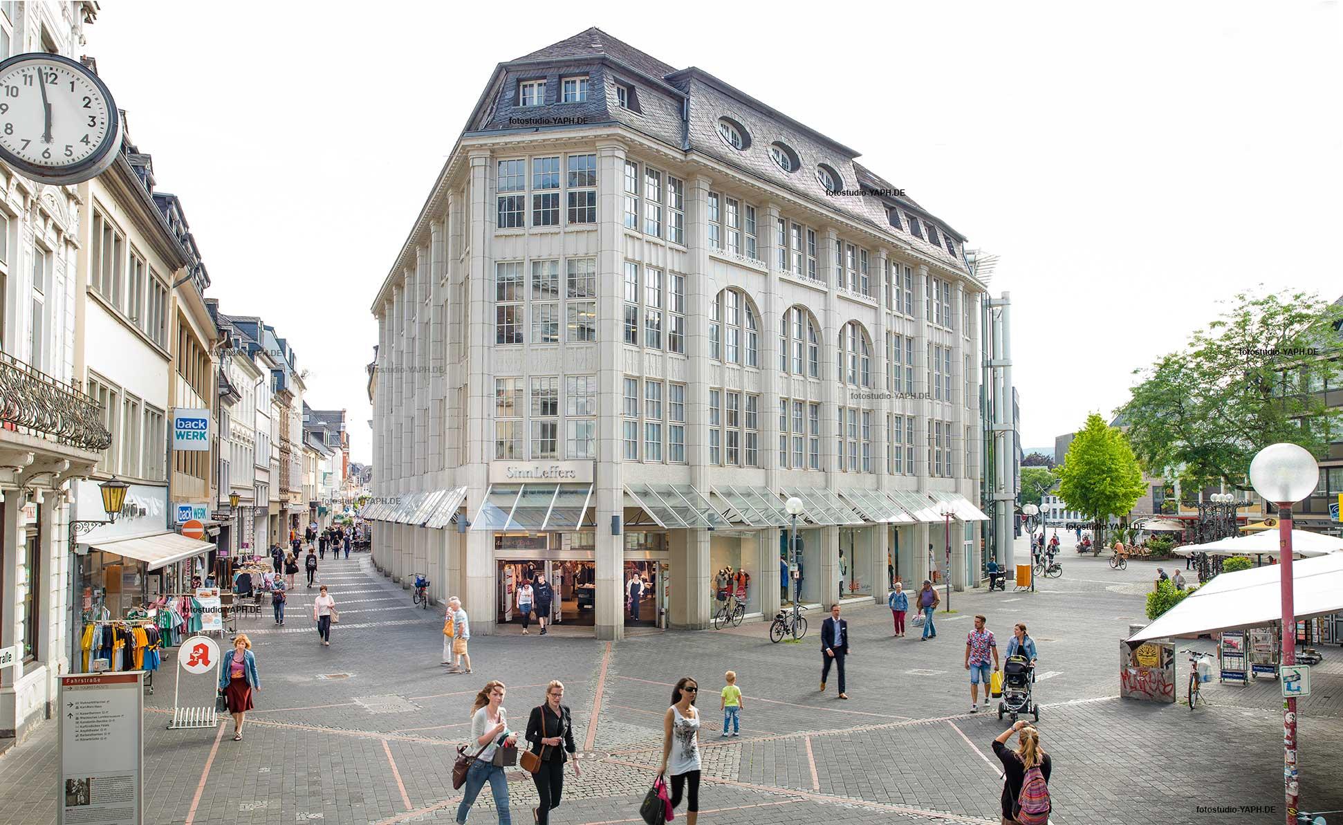 Das Architekturfoto des Hauses Sinn-Leffers aufgenommen von Yaph Fotograt für Immobilien in Trier.
