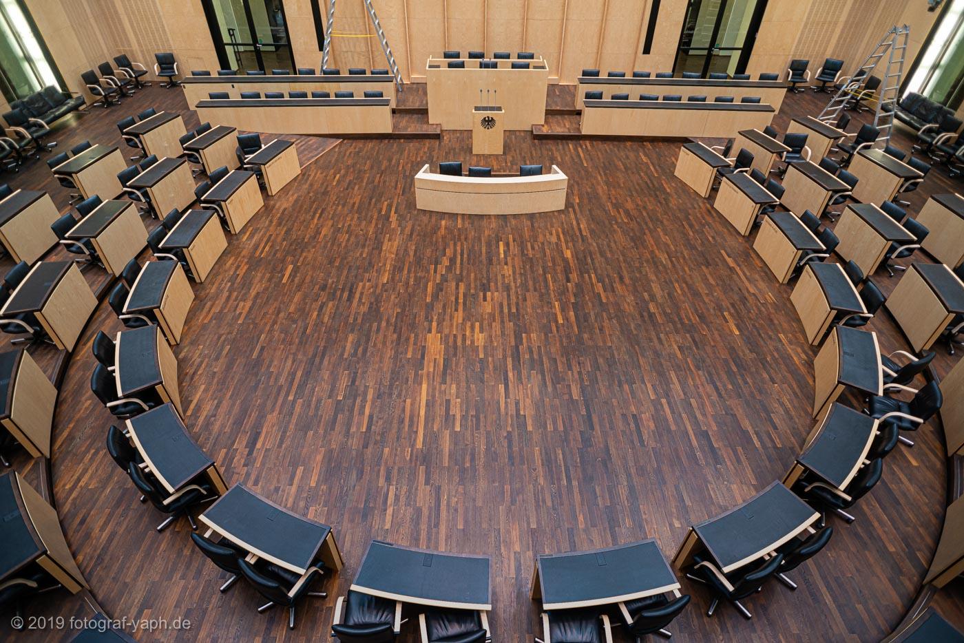 Sitzungssaal Bundesrat Berlin fotografiert von Fotostudio Yaph Trier