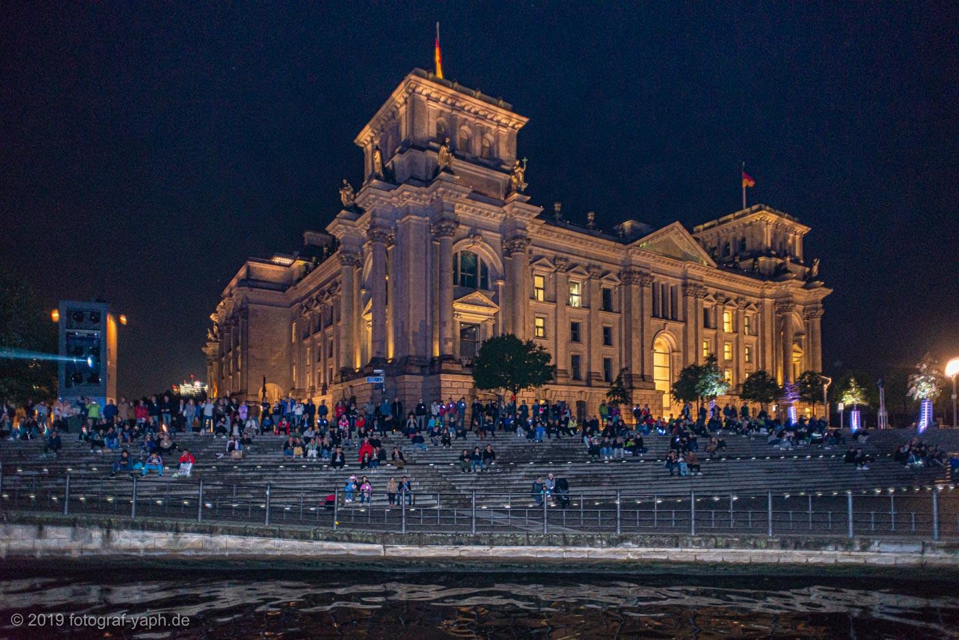 Der Deutsche Bundestag gesehen vom Spree,  fotografiert von Fotograf Yaph, Yousef A.P. Hakimi