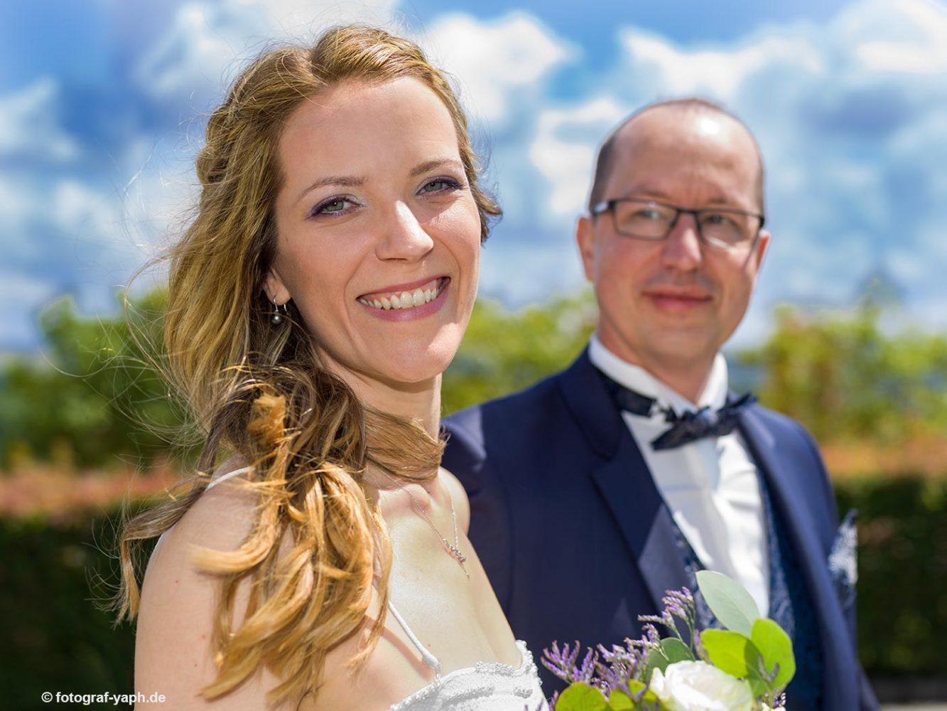 Brautpaarfotoshooting bei Hochzeitsfotograf in Trier Yaph, Petra und Herbert