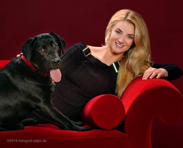 Fotoshooting mit Hunden im Fotostudio in Trier bei Fotograf Yaph