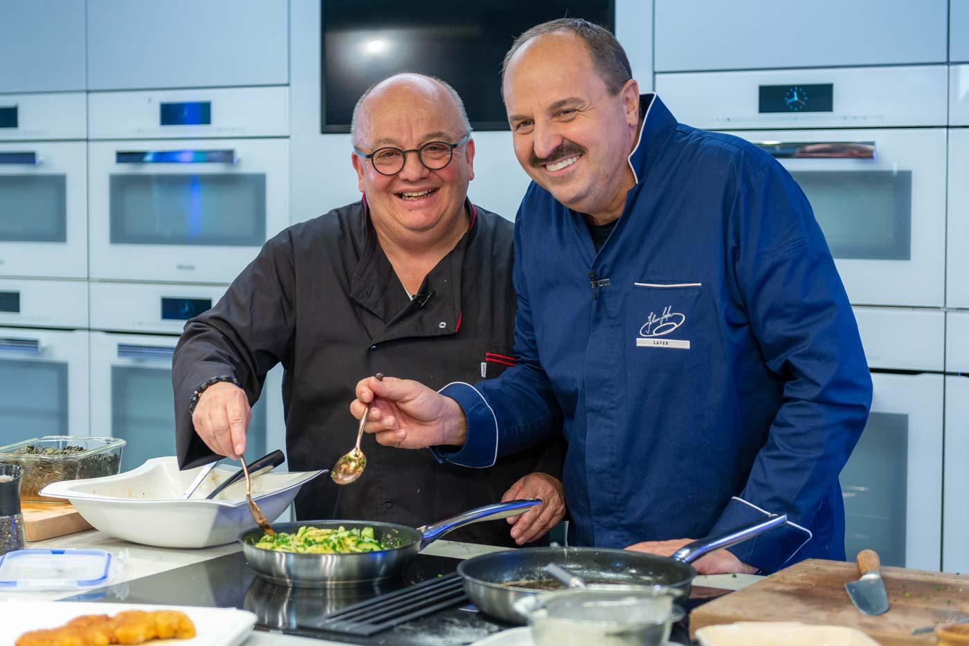 Kochshow Medien weichgekocht mit Johann Lafer und Werner Orth