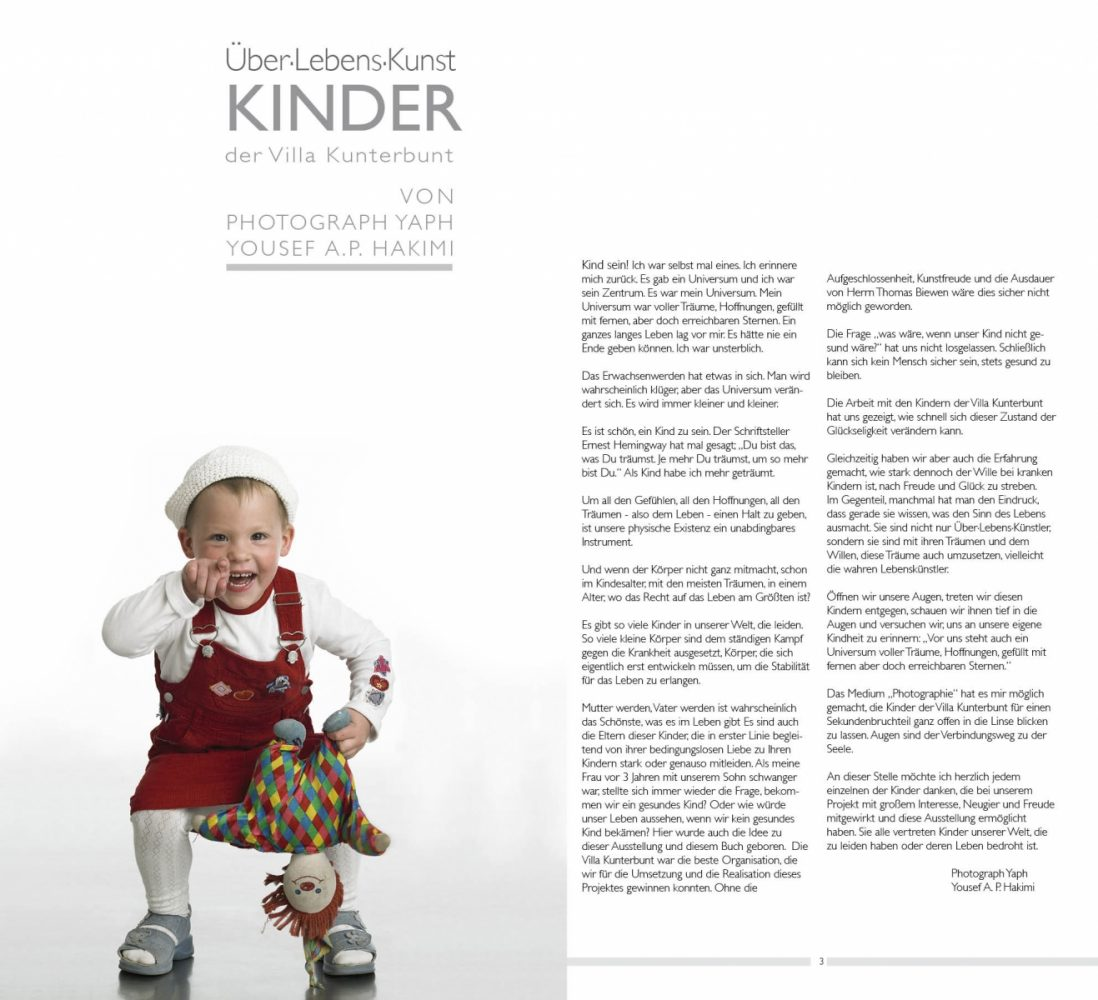 Fotoausstellung mit begleitendem Bildband, Über-Lebens-Kunst von Fotograf Trier Yaph