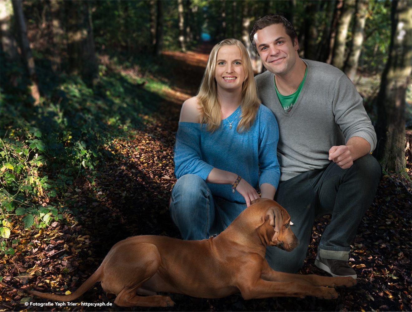 Hondefotoshooting und Familienfotos in Trier Fotostudio Yaph auf dem Petrisberg