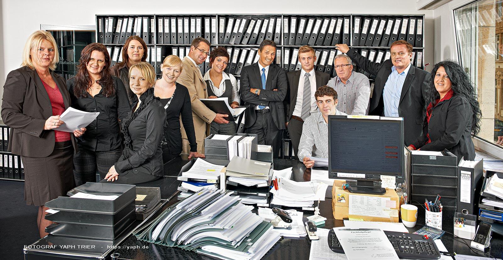 Business Fotografie und Teamfotos, Fotograf für Firmen in Trier -Yaph