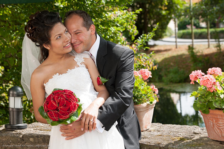 Hochzeitsfotos für einen Bildband von der Hochzeit