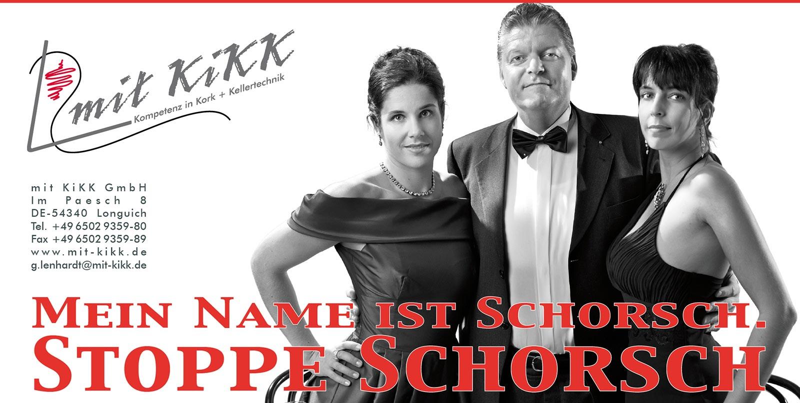Webekampagne für Mit Kikk GmbH, Stoppe Schorsch, Konzept, Fotografie, Layout: Atelier Yaph Trier