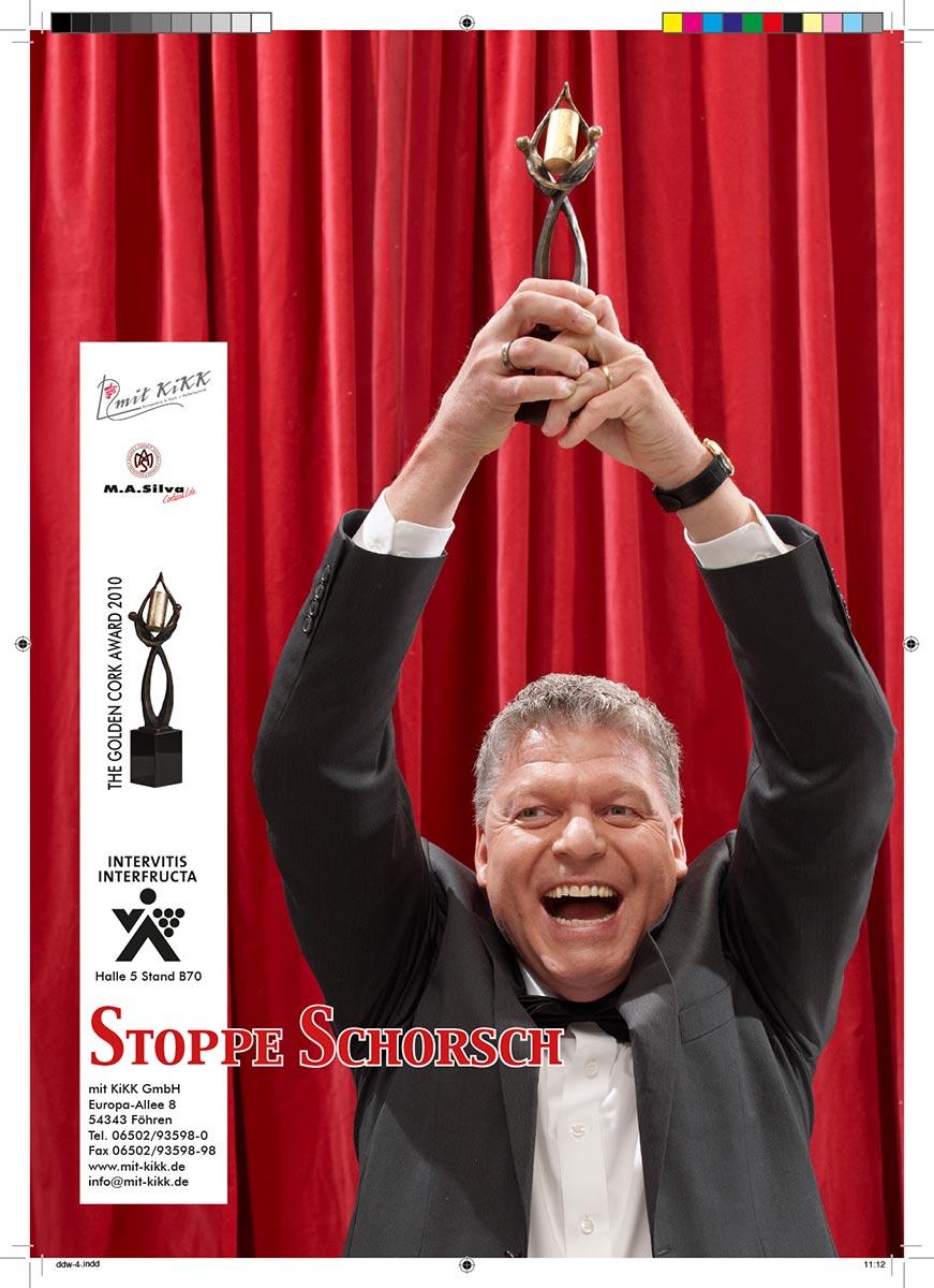Webekampagne für Mit Kikk GmbH, Award für Stoppe Schorsch, Konzept, Fotografie, Layout: Atelier Yaph Trier