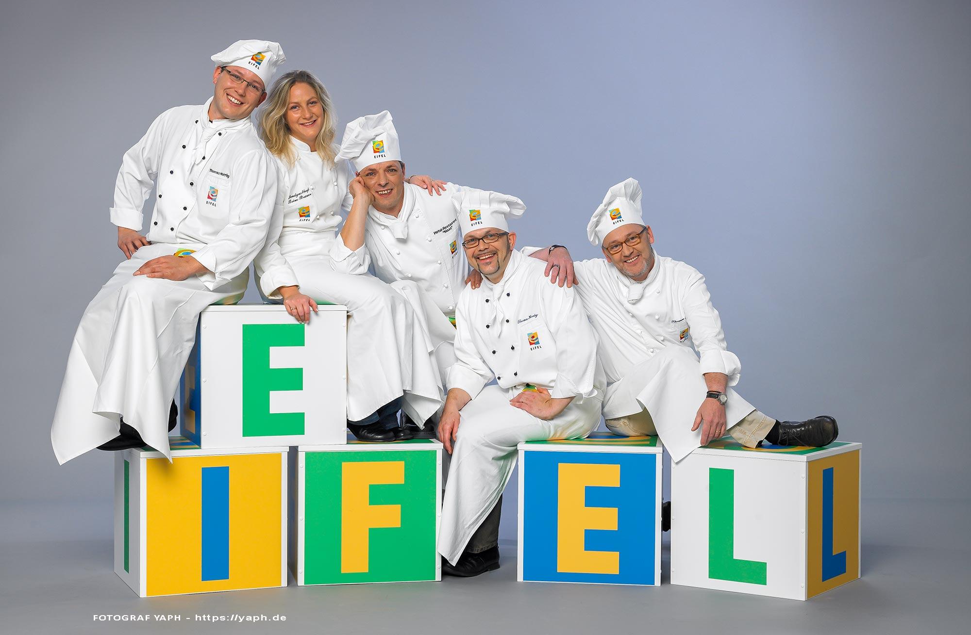 5 Köche aus der Eifel - Fotograf Trier - Yaph - Businessfotografie - Werbefotografie