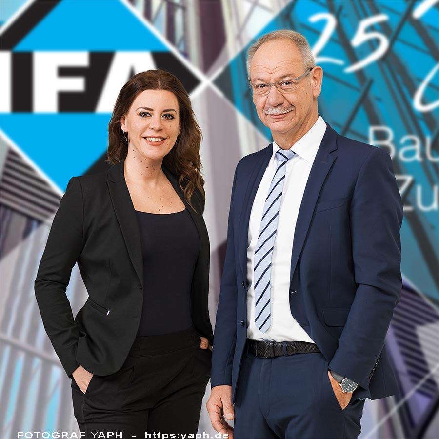 Schaefer CEO der Immobiliengesellschaft IFA Trier bei Werbefotograf Yaph für Business Portraits
