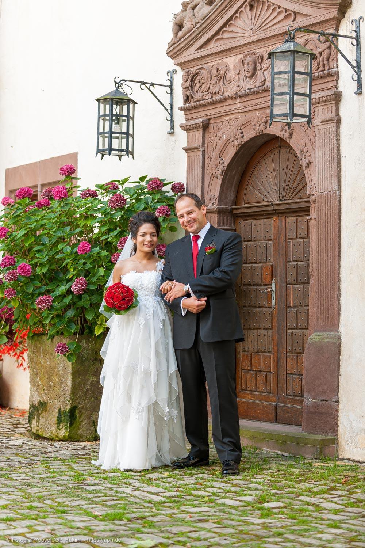 Offizielle Brautbilder als Motiv für die Danksagungskarte